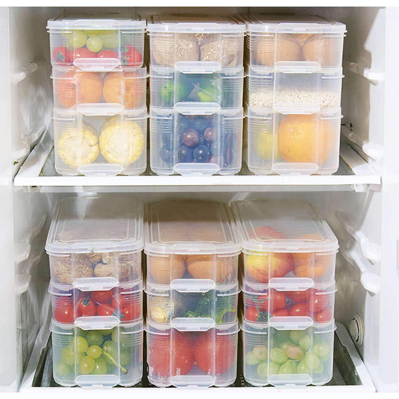 Fewao - Contenedores de Almacenamiento para frigorífico, de ...