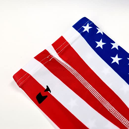American Flag EMS Star of Life UV Protection Cooling Or Warmer Arm Sleeves for Men Women Kids 1 Pair