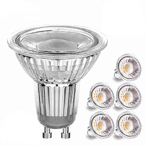 Bombillas LED GU10 5W, GU10 Spot Light, Equivalente a 50Watt Lámpara Halogena, Blanco