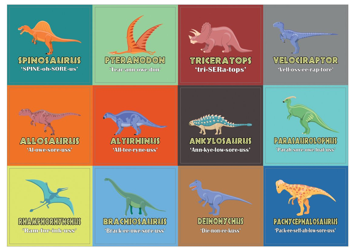 Dinosaurs Stickers for Kids (10 Sheets)- Dino Jurassic World Party Favors Teacher Classroom Reading Rewards and Incentive Gifts for Children Teens Boys and Girls Stocking Stuffers Creanoso