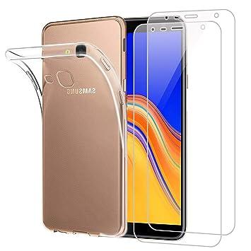Funda Samsung Galaxy J4 Plus 2018 Transparente Suave TPU Silicona Anti-rasguños Protector Trasero Carcasa para Samsung Galaxy J4 Plus 2018 (6.0 ...