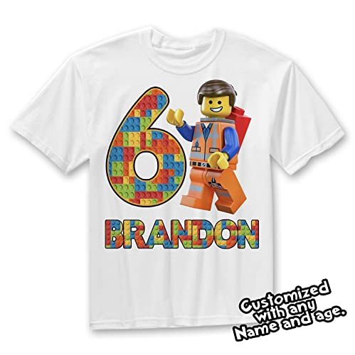 Lego Birthday Shirt Theme Party Gift