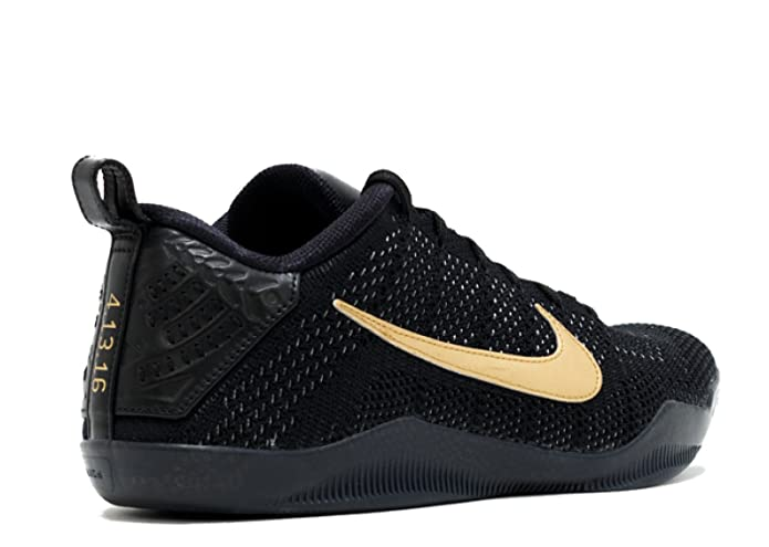 timeless design a0a5a 42f19 Amazon.com   Nike Kobe 11 FTB Black Black-Metallic Gold 869459-001