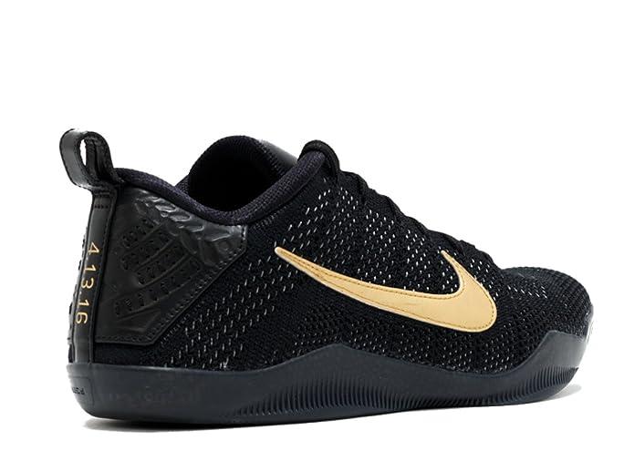 timeless design b4772 1bfd2 Amazon.com   Nike Kobe 11 FTB Black Black-Metallic Gold 869459-001