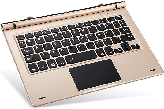 Teclast TL de T10S – Teclado para tbook 10s (magnético, diseño de Acoplamiento para Email, Chat, Juegos) Oro