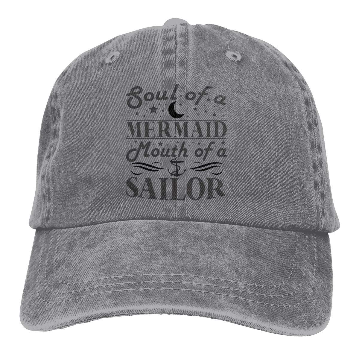 Soul of Mermaid Mouth of Sailor Mens Woman Handsome Cap Classical Hat Fishion Chapeau