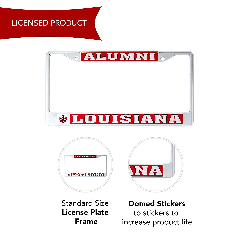 Craftique Alumni Lafayette University Alumni Metal License Plate Frame for Front Back of Car Officially Licensed Rajin Cajuns Desert Cactus Louisiana