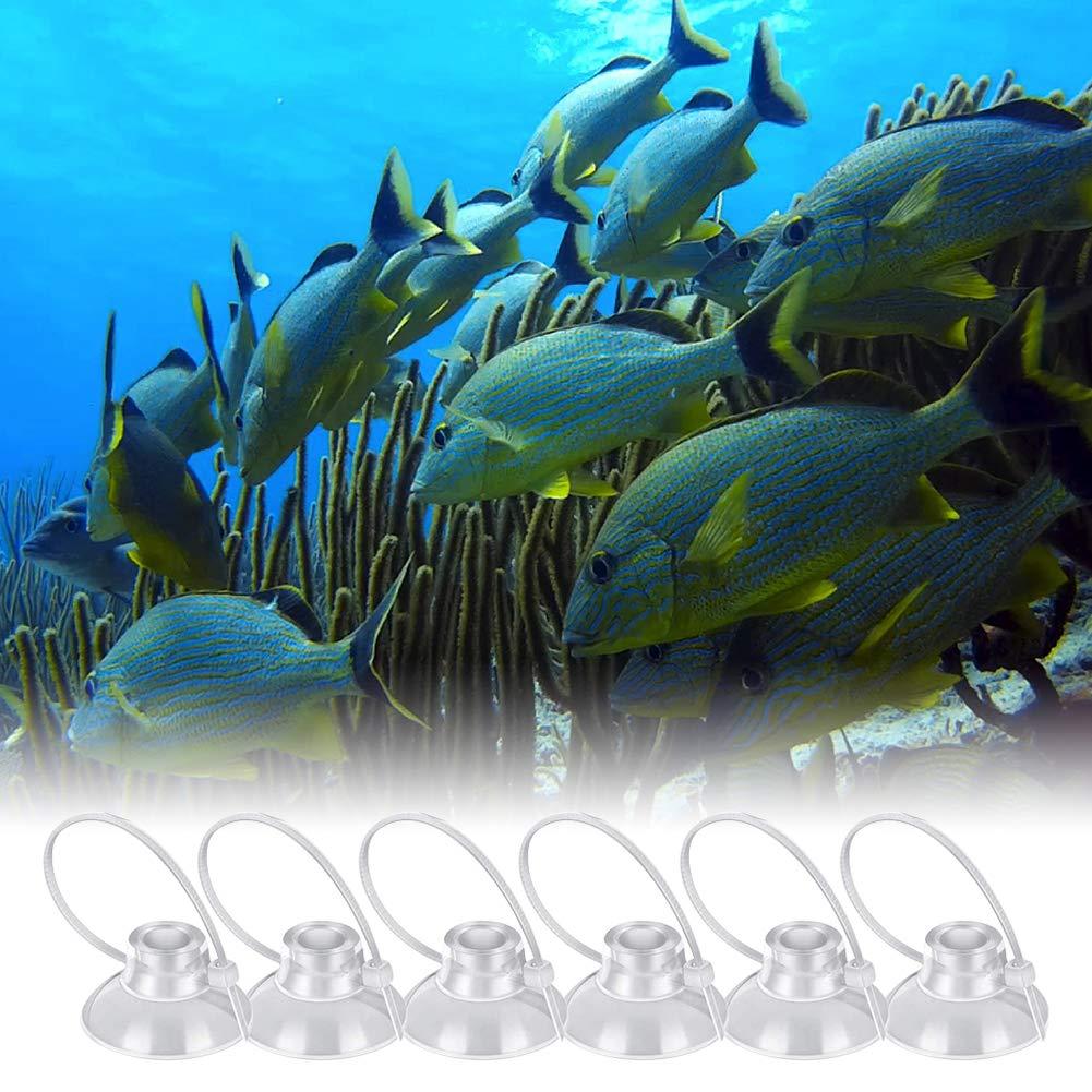 Ventose per Acquario da 16 Pezzi Ventose con Fascette Regolabili per Legare Il Muschio Nido di gamberi Dodge Nest