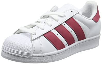 huge discount 7cf90 f4b15 Image Unavailable. Image not available for. Color  adidas Originals Superstar  White Dark Pink Leather ...