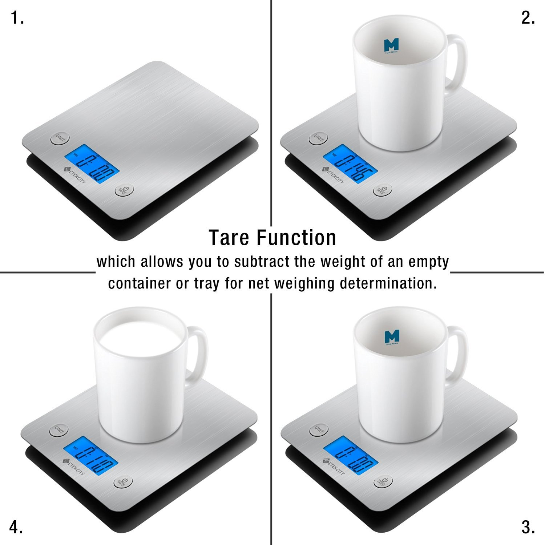 Etekcity EK6211 Digital Kitchen Multifunction Food Scale with Large Platform 11lb 5kg, Batteries Included (Stainless Steel) by Etekcity (Image #3)