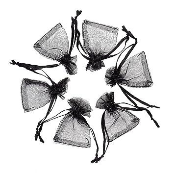 Amazon.com: Pandahall negro bolsas de Organza bolsas de mini ...
