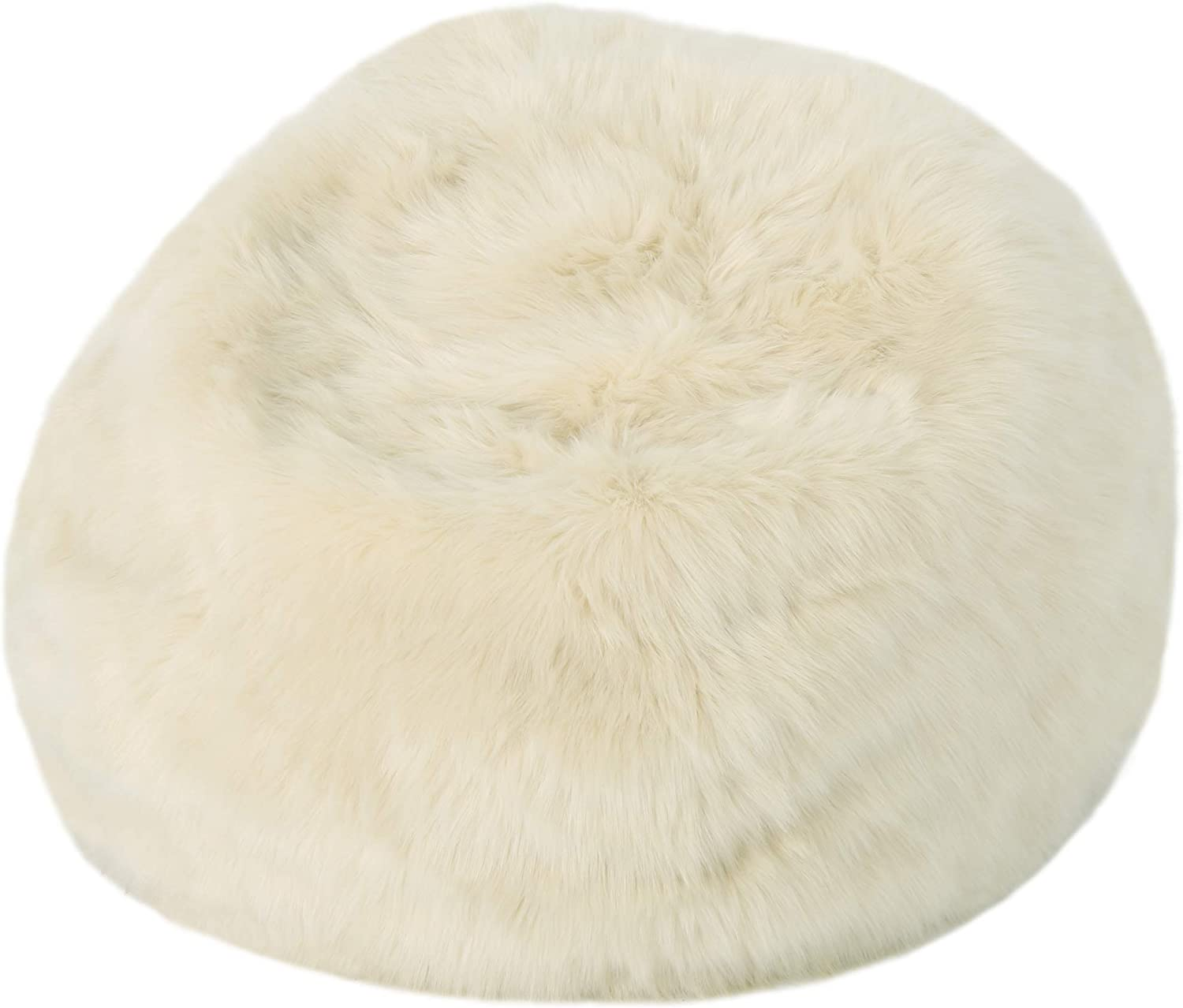 Christopher Knight Home Marcy Modern 3 Foot Faux Fur Bean Bag, Taupe