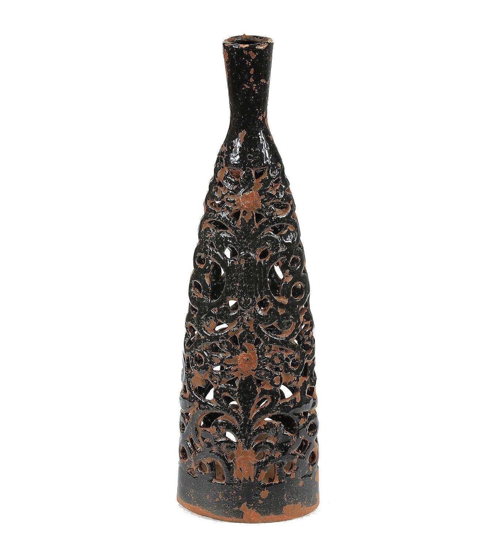 Privilege International 79020 Ceramic Vase with Lid, Large by Privilege International [並行輸入品] B00FKEE3GI