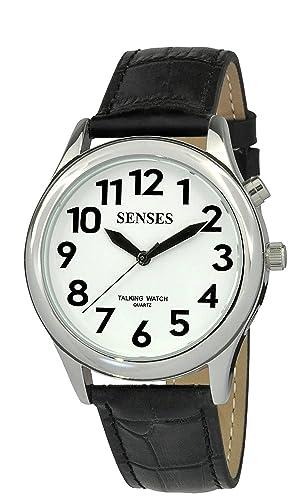 Reloj Parlante 2 nd Generación. Sentidos Hombres S Alarma baja Vision Plateada Metal Reloj Parlante