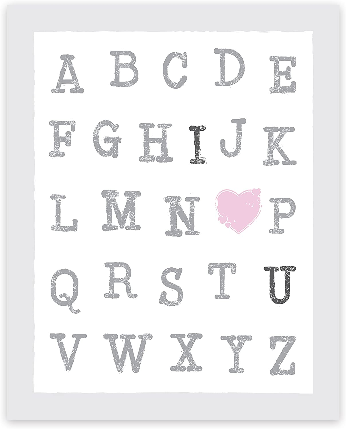 Alphanet ABC Letters Rainbow Modern Nursery Print Wall Art Kids Room Picture