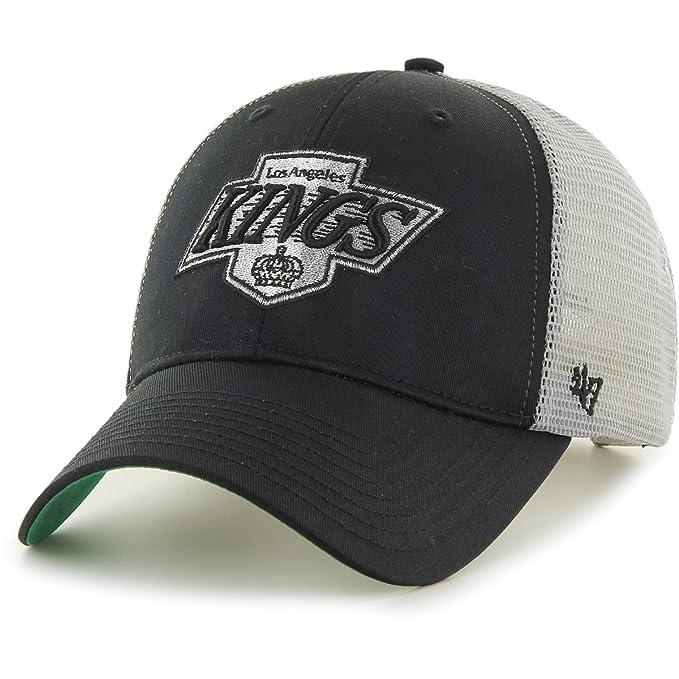 Gorra trucker negra y blanca de Los Angeles Kings NHL MVP Branson de 47 Brand - Negro, Talla única: Amazon.es: Ropa y accesorios