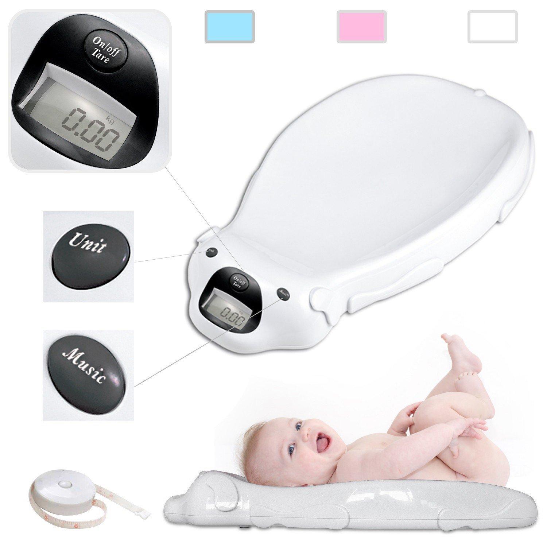 Todeco - Pèse Bébé, Balance Éléctrique pour Bébé - Dimensions: 65,4 x 33,2 x 11,6 cm - Charge maximale: 20 kg - Blanc product image