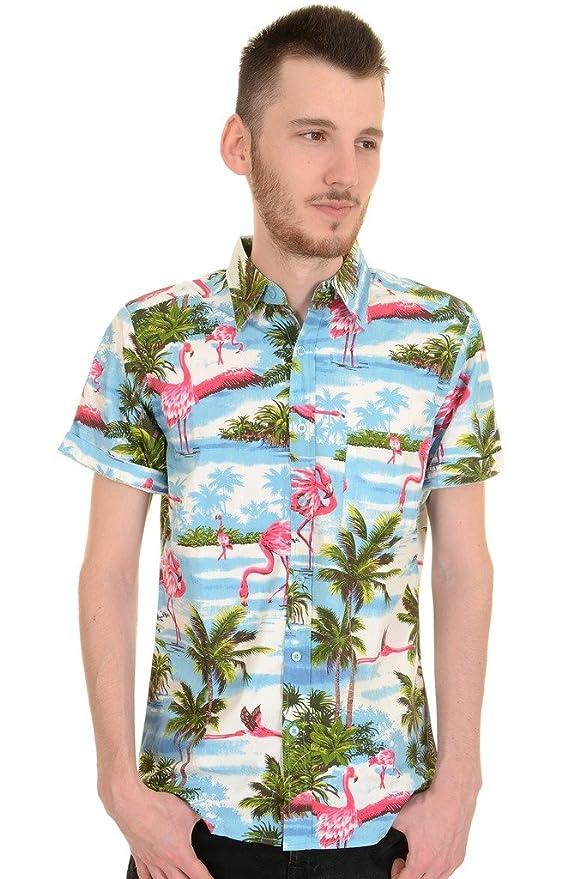 Retro Flamingo Print Shirt by Run and Fly S//M//L//XL//XXL Rockabilly Fifties 50s St