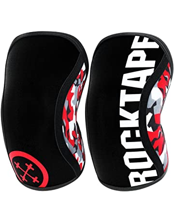 Rocktape Assassins – Rodilleras Unisex (5 mm), Estampado de Camuflaje en Rojo