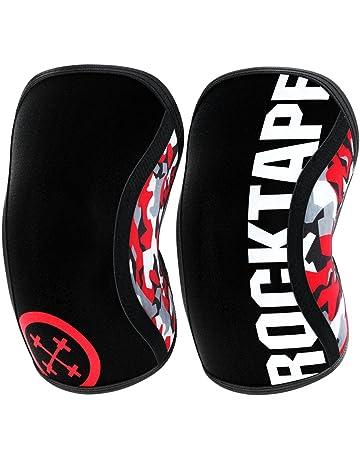Rocktape Assassins – Rodilleras Unisex (5 mm), Estampado de Camuflaje en Rojo
