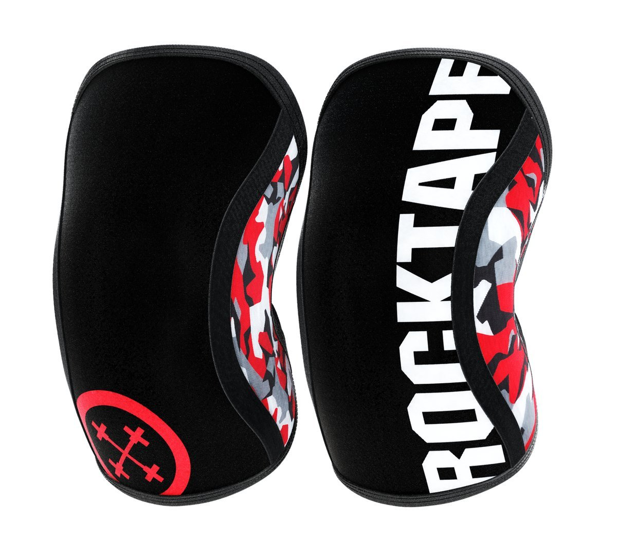 RockTape Assassins 5mm Knee Sleeves (2 Sleeves), Large (Fits 14.5-15.5 Inches), Red Camo by RockTape