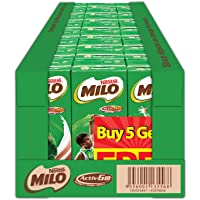 MILO UHT Chocolate Malt Packet Drink 5+1 Case, 200ml, Pack of 24