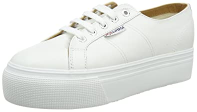 2a110afd7a Amazon.com | Superga Women's 2790 Nappaleaw Trainers, White (White ...