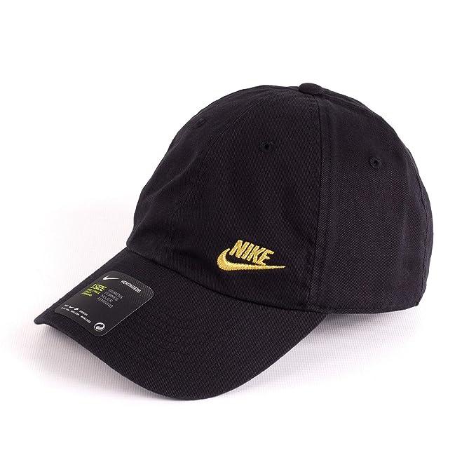 Nike Gorra H86 Swoosh negro dorado talla  Ajustable  Amazon.es  Ropa y  accesorios f17390436a3