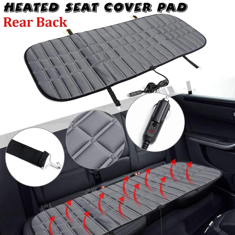 KKmoon Car Rear Seat Row Heating Pad Cushion Cover Winter Car Heater 12V Black