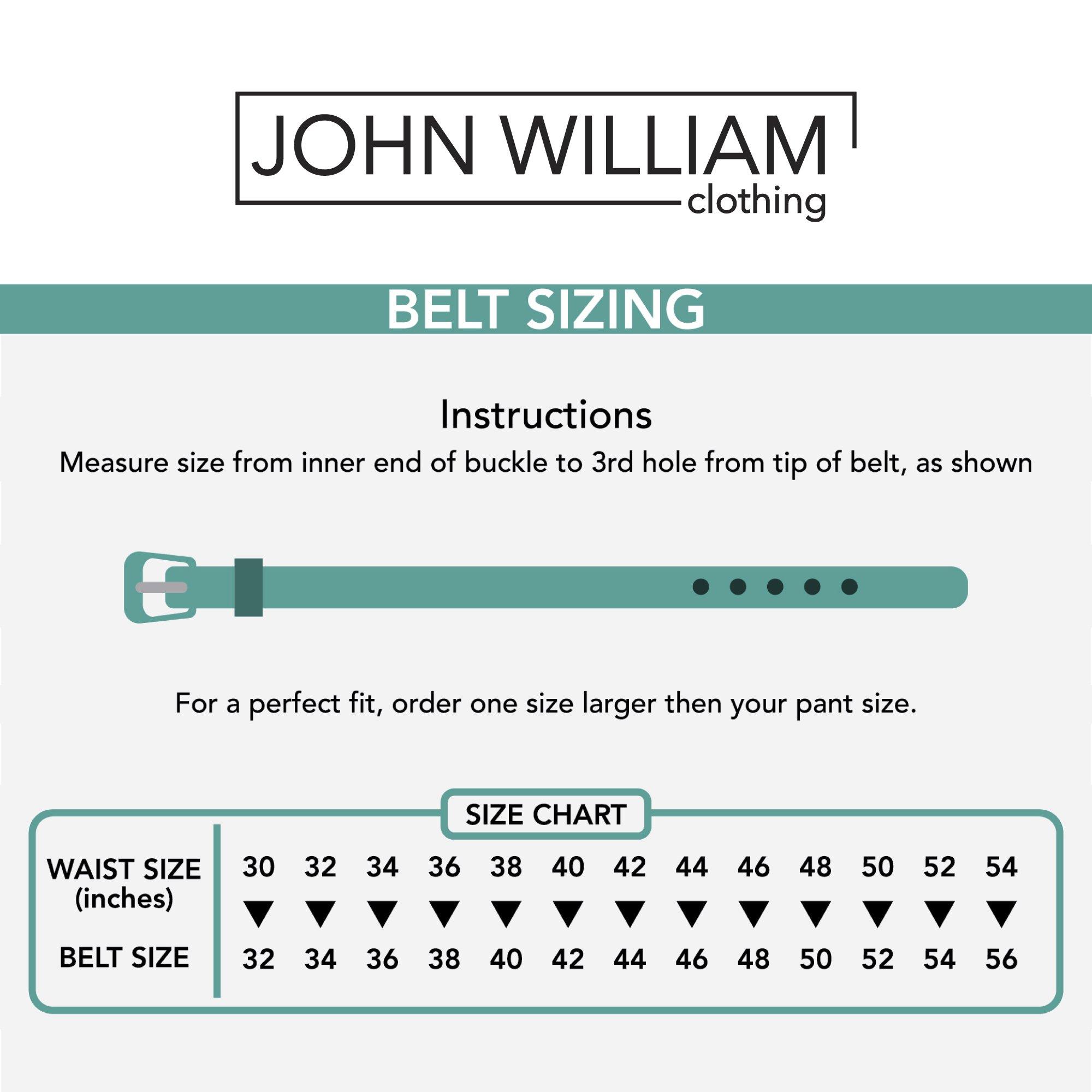 Leather Belts For Men - Mens Black Belt - 1.25'' Dress & Casual Men's Belt in Gift Bag - 36 by John William Clothing (Image #7)