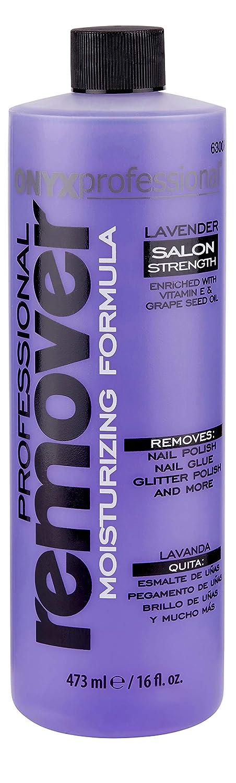 Onyx Professional Moisturizing Formula Nail Polish Remover Lavender Scented. 16oz 63007