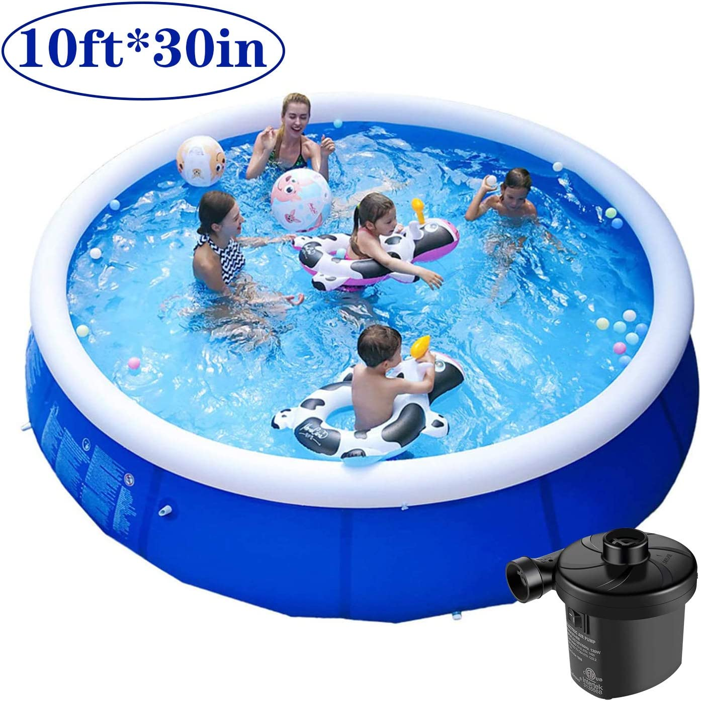 13-Foot Large Family Swimming Pool Set Inflatable Pool for Kids and Adults Full-Size Inflatable Above Ground Pool Summer Water Party Swimm Pool with Filter Pump