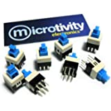 microtivity IM211 Push-and-lock Button Switch (Pack of 8)