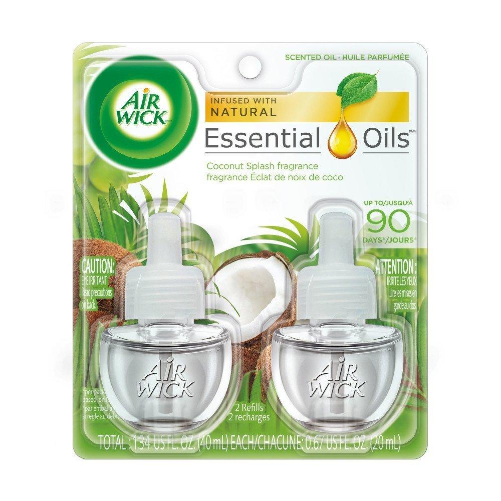 Air Wick Essential Oils Coconut Splash (2X.67) oz Reckitt Benckiser
