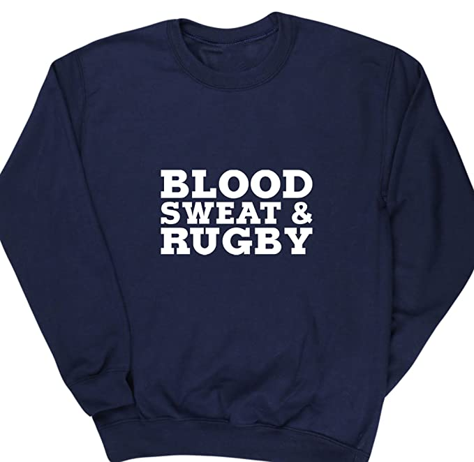 HippoWarehouse Blood Sweat & Rugby kids childrens unisex jumper sweatshirt pullover
