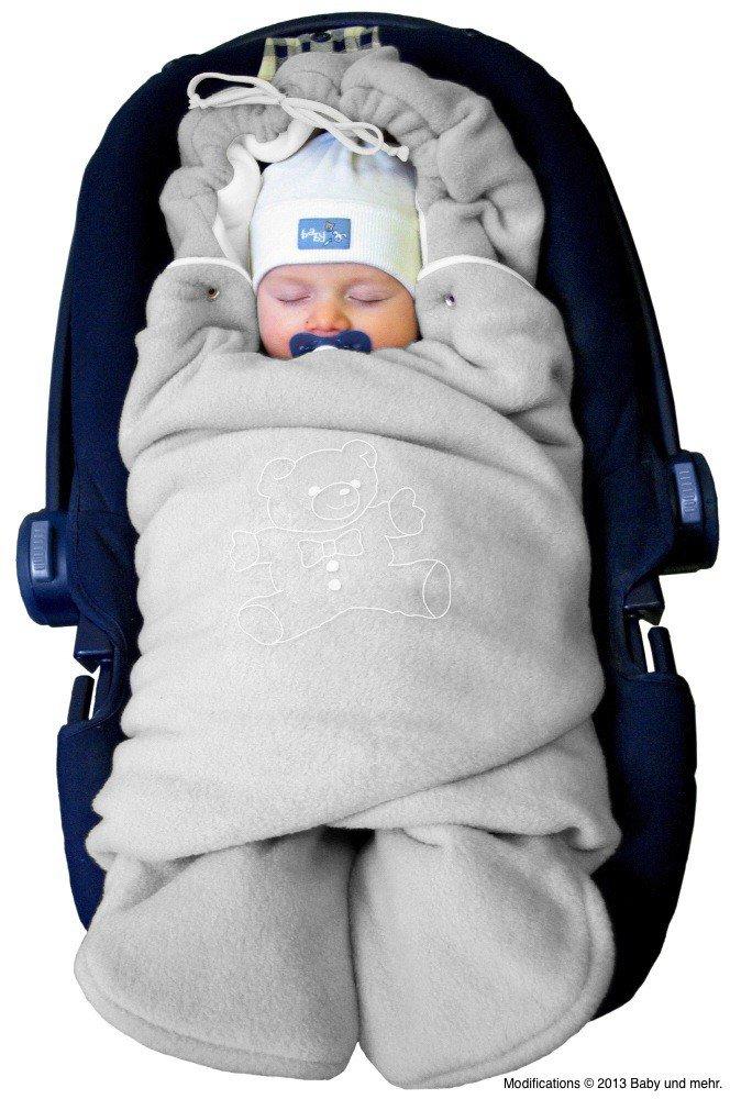 """ByBoom Baby Winter-Einschlagdecke""""Das Original mit dem Bären"""", Universal für Babyschale, Autositz, z.B. für Maxi-Cosi, Römer, für Kinderwagen, Buggy oder Babybett Bild"""