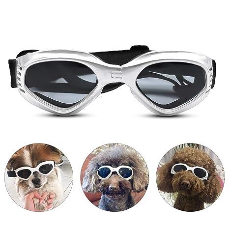 PEDOMUS - Gafas de Sol para Perros, Correas Ajustables para ...