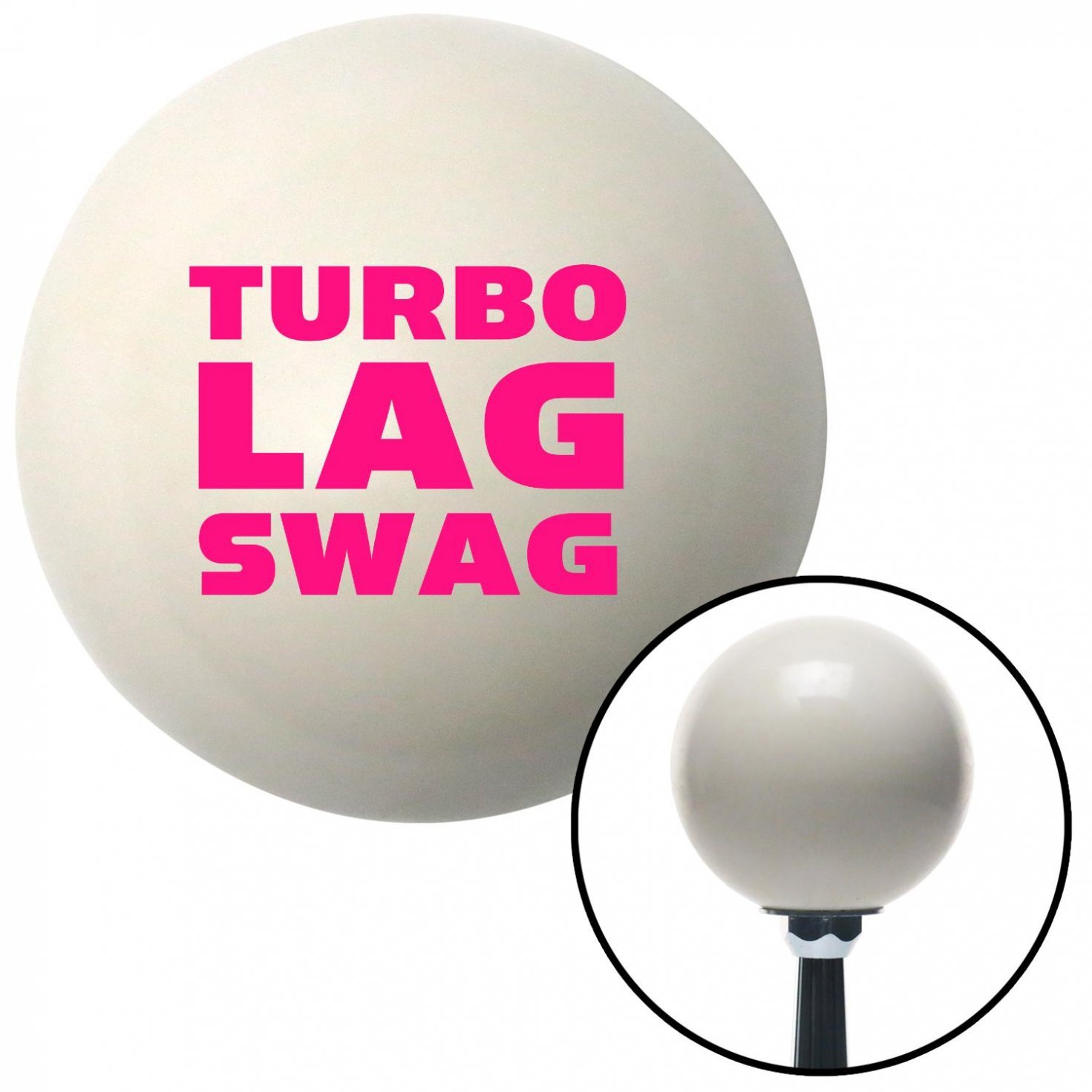 Pink Turbo Lag Swag American Shifter 34456 Ivory Shift Knob with 16mm x 1.5 Insert