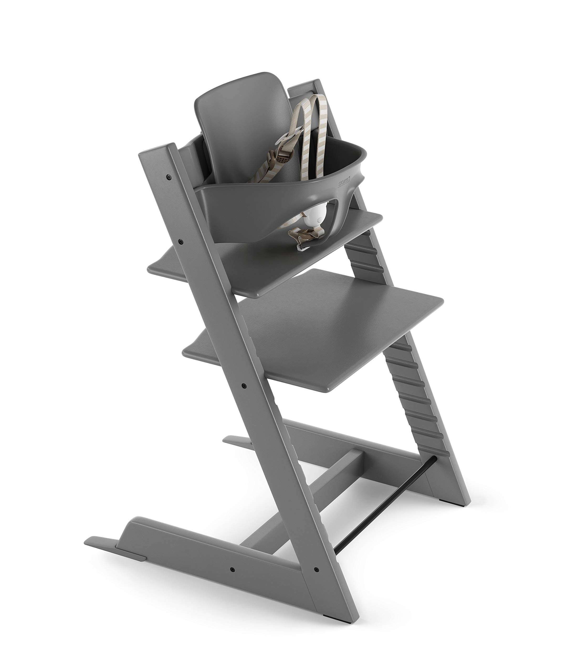 Stokke 2019 Tripp Trapp High Chair, Includes Baby Set, Storm Grey by Stokke