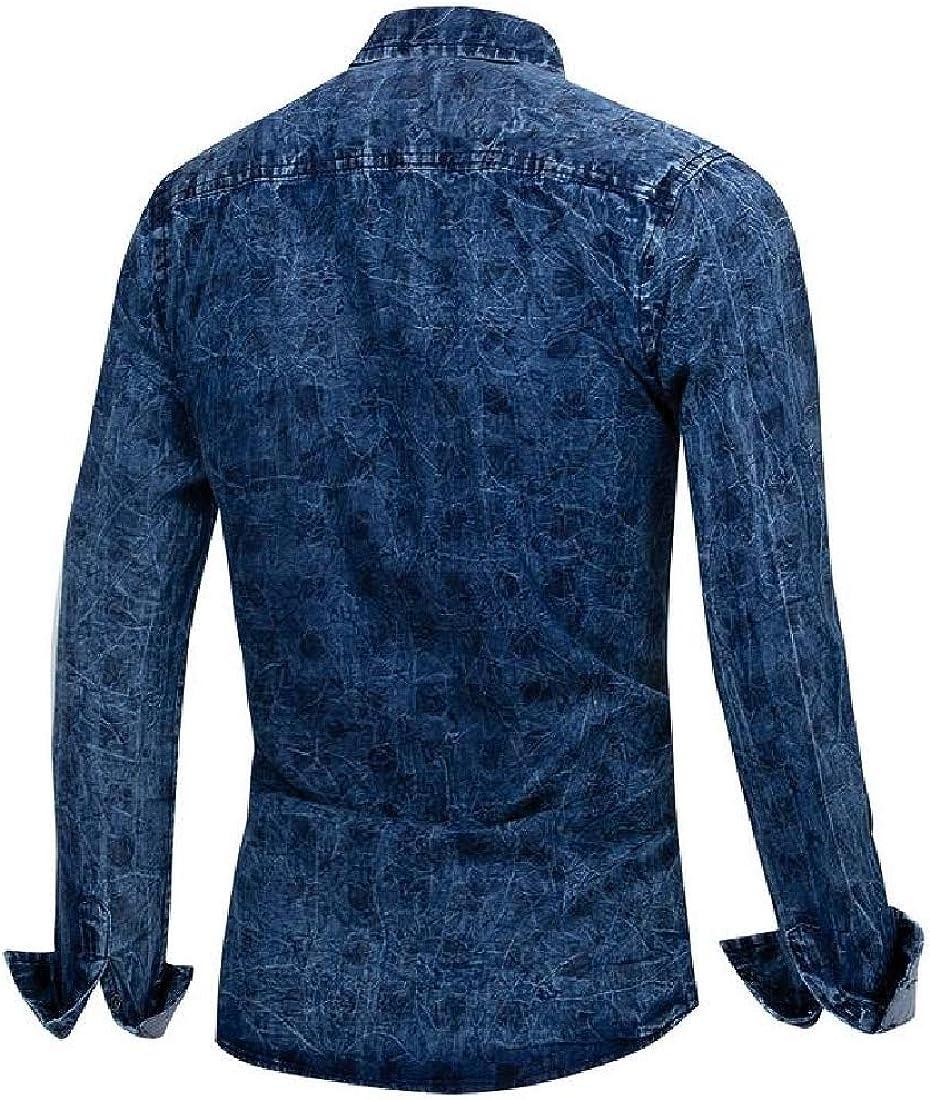 Sebaby Mens Classic Plaid Trim-Fit Floral Regular Comfort Soft Longshirt