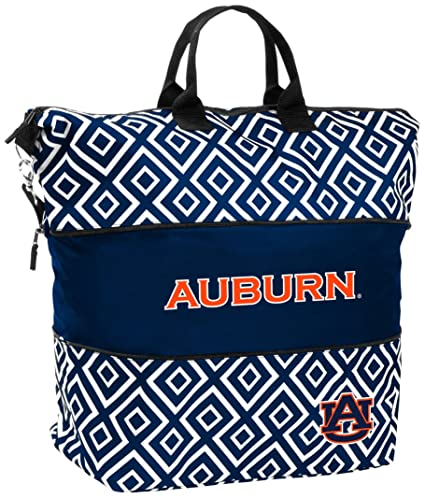 Logo Brands NCAA Auburn Womens DD Expandable Tote Bag