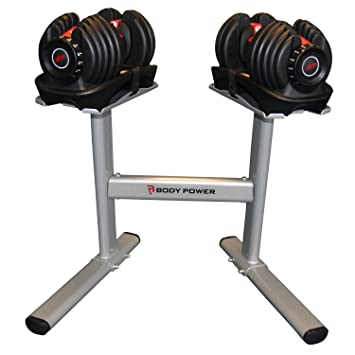 2 de 24 kg Bowflex mancuernas SelectTech y soporte Bodypower: Amazon.es: Deportes y aire libre