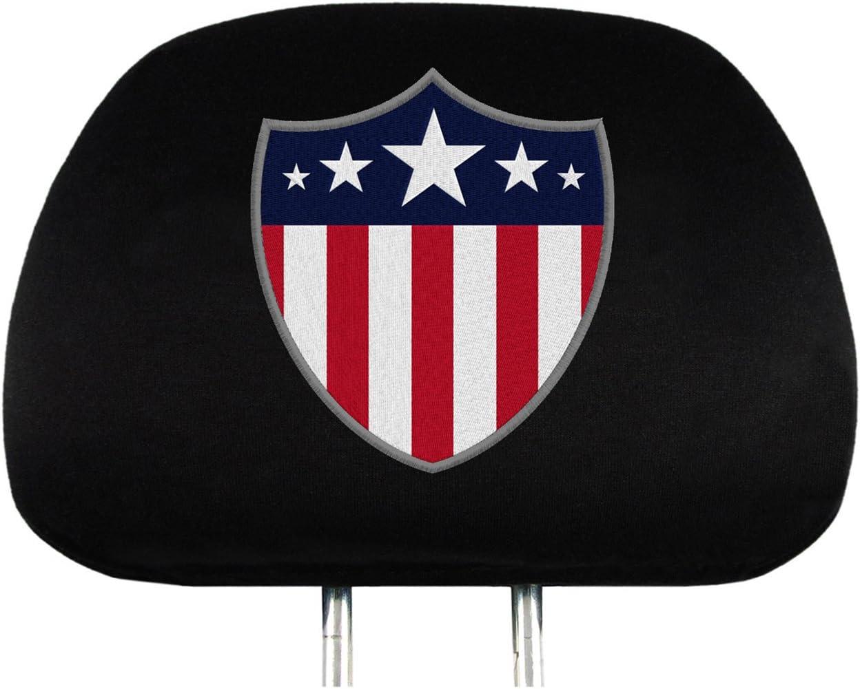 Team ProMark HRUS01 US Flag Car Headrest Cover