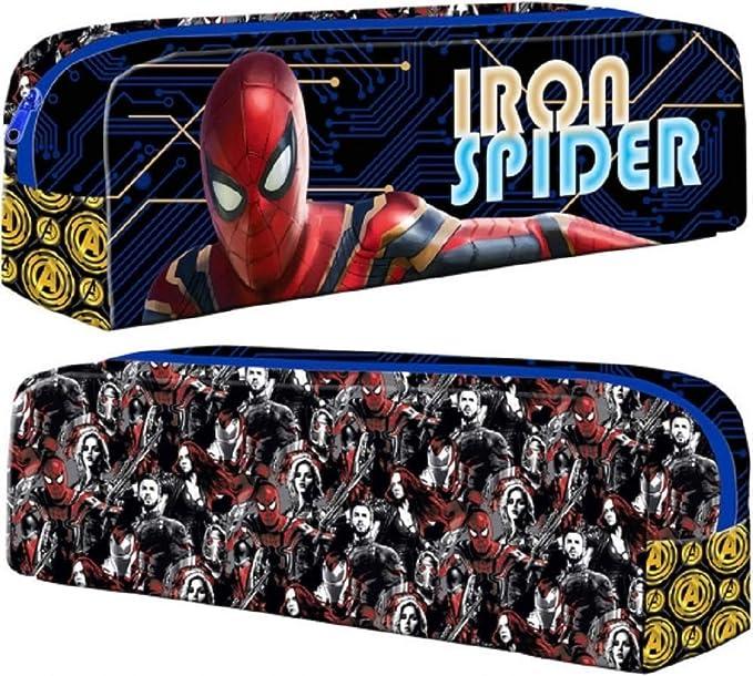 Estuche rectangular de Iron Spider-Man oficial de Marvel: Amazon.es: Oficina y papelería