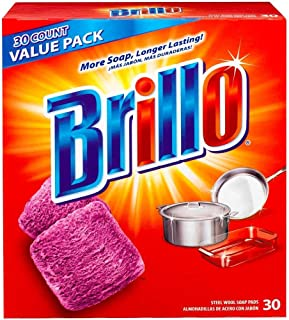 product image for Brillo Jumbo Red Steel Wool Soap Pads (30-Count)