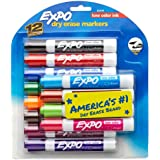 Expo Low Odor Chisel Tip Dry Erase Markers, 12 Colored Markers(80699) Case of 12