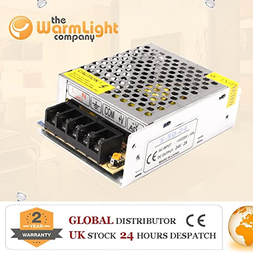 Transformador/Conductor Hi End 24V 2a 48w ac/dc para bombillas/barras LED