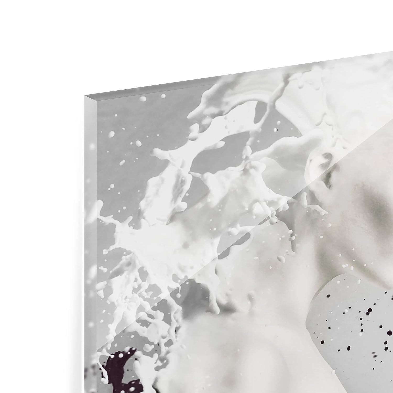 peinture murale revetement mural cuisine dosseret de cuisine impression sur verre fond de cuisine Dimension: 59cm x 90cm Bilderwelten Cr/édence en verre Milk /& Coffee Paysage 2:3