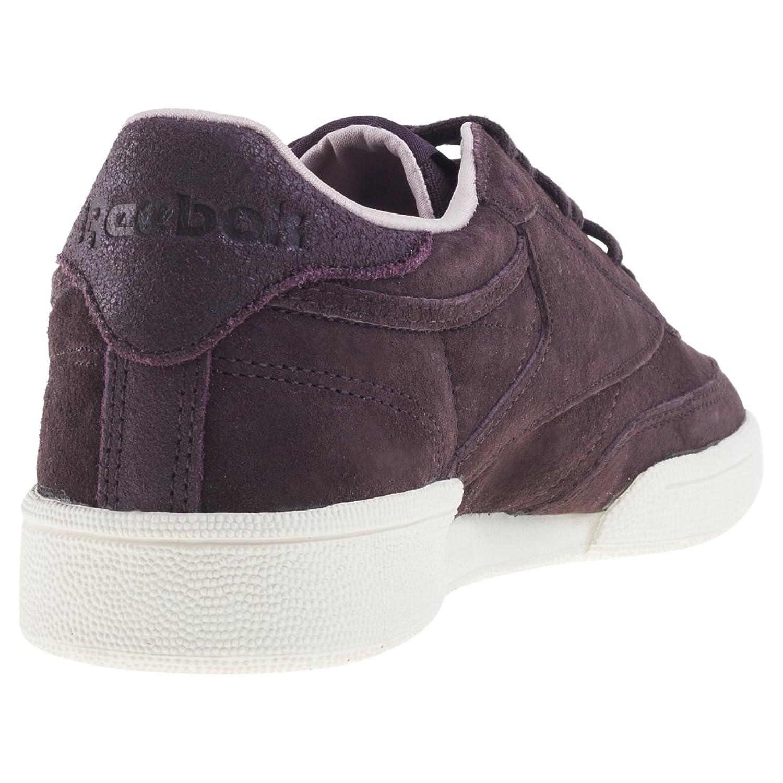Reebok Club C 85 W&W, Chaussures de Fitness Femme, Multicolore-Violet/Rose (Urban Plum/Shell Pink/Chalk/Gum), 41 EU