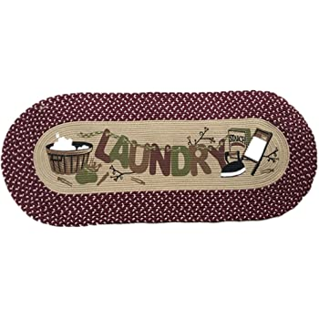 Amazon Com Vintage Laundry Room Decorative Braided Runner